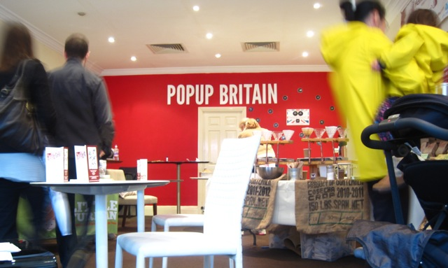 The pilot retail shop for PopUp Britain in Richmond, London