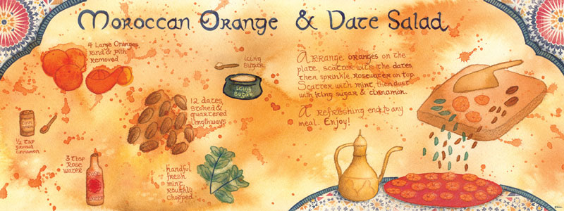 Moroccan Orange & Date Salad by Kim Fleming from Melbourne, Australia