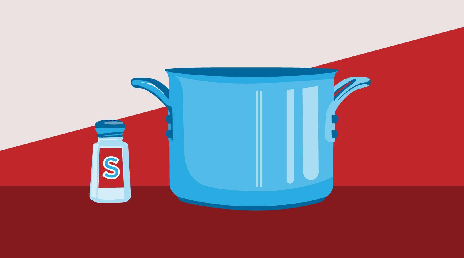 Salt shaker and pot