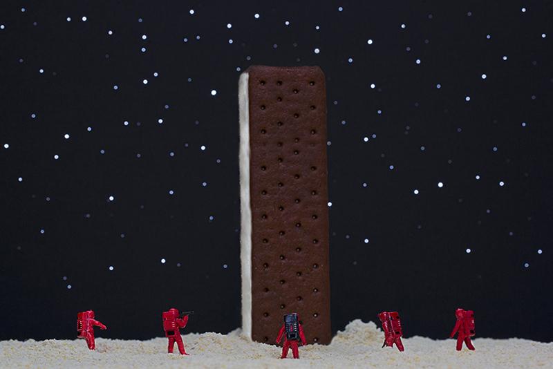 Ice Cream Sandwich Monolith. © Christopher Boffoli
