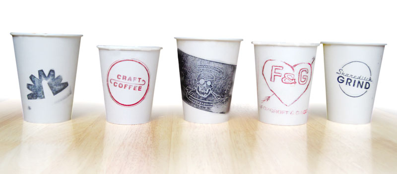 Every stamped cup is unique