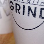 Detail of coffee cup stamp