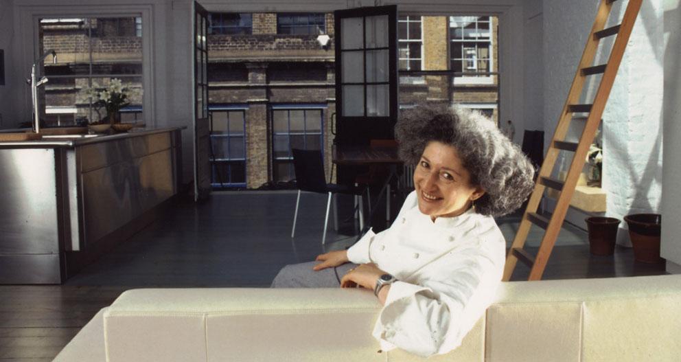 Anissa Helou in her kitchen