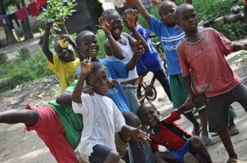 Children in Liberia. Image courtesy of Will Beckett/Huw Gott
