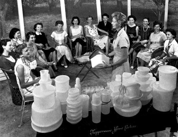 a Tupperware home party in Sarasota, Florida.