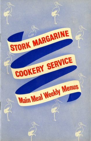 Stork Margarine Cookery Service - Main Meal Weekly Menus