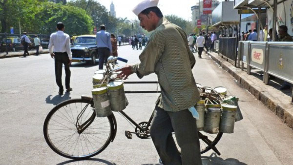 The efficient tiffinwalas get around Mumbai quickly on bicycle